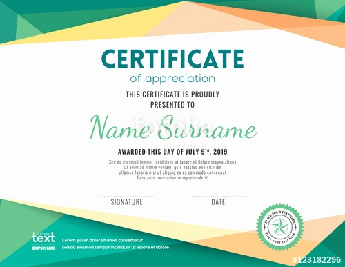 "Certificate Background Design Free Download Elegant ""modern Certificate Background Design Template"" Stock"