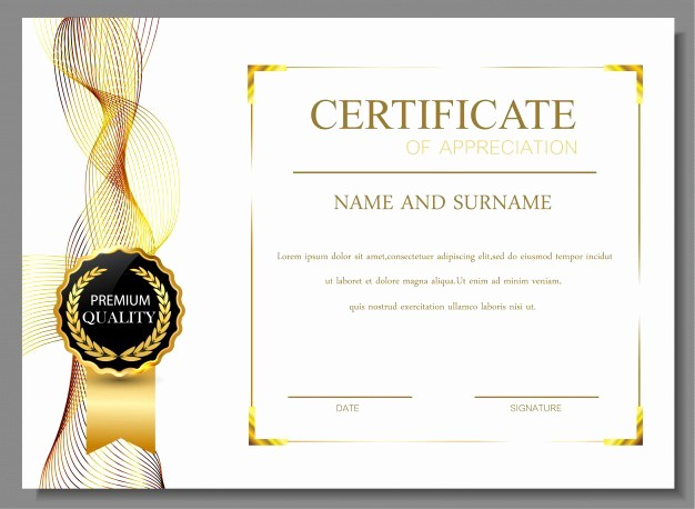 Certificate Background Design Free Download Fresh 30 Free Certificate Templates – Templatemonster – Medium