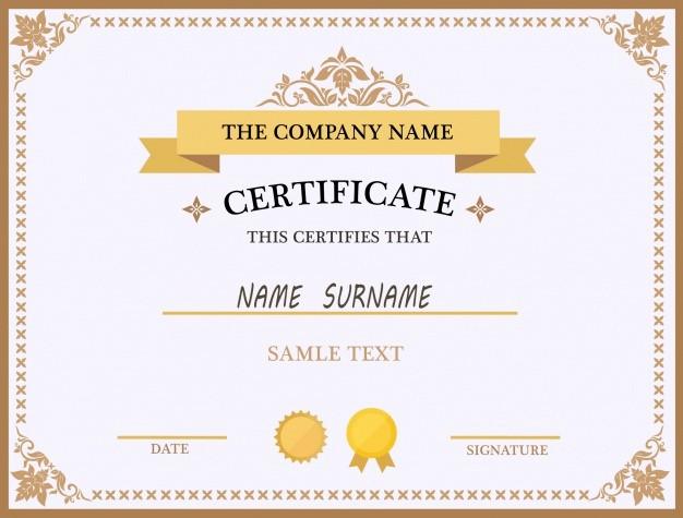 Certificate Background Design Free Download Fresh Certificate Template Design Vector