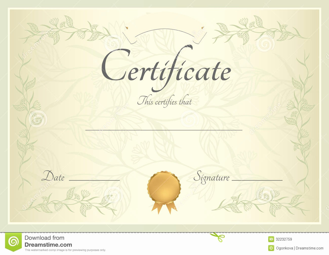Certificate Background Design Free Download Inspirational Certificate Diploma Background Template Stock Vector