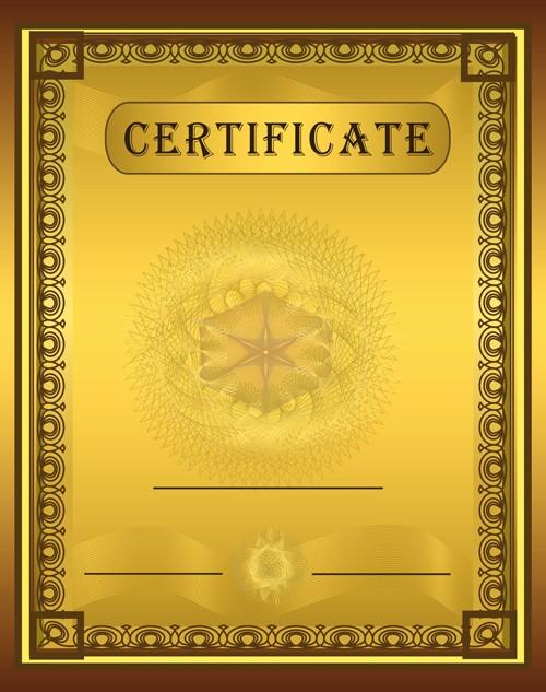 Certificate Background Design Free Download Inspirational Vector Templates Of Certificates Design Set 03 Free