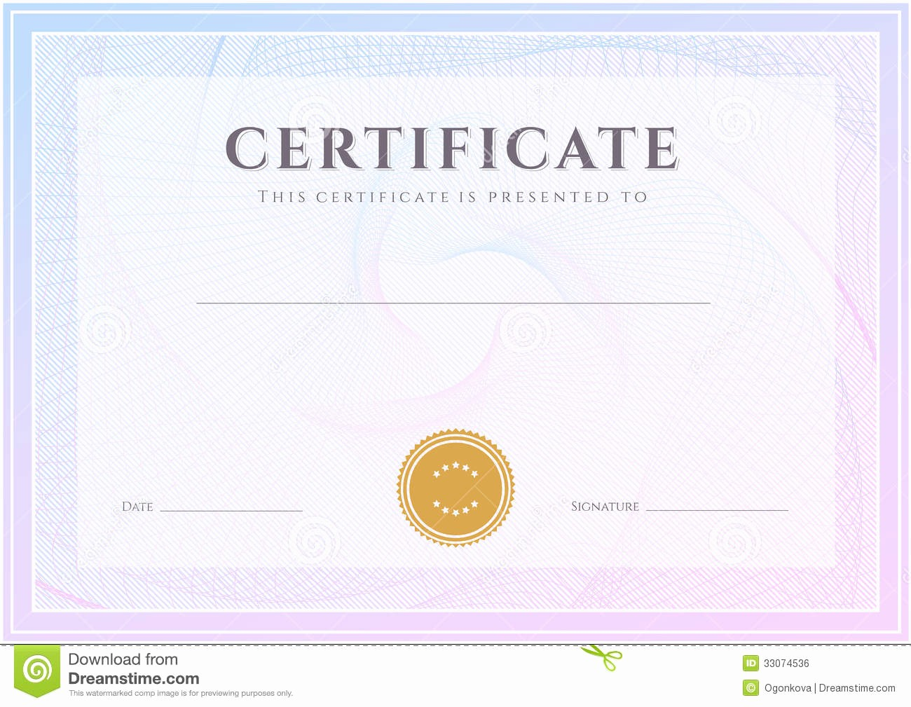Certificate Background Design Free Download Luxury Certificate Diploma Template Award Pattern Stock Vector
