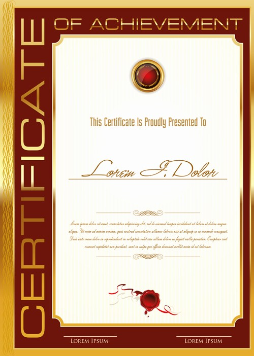 Certificate Background Design Free Download Luxury Golden Frame Certificate Template Vector 01 Free