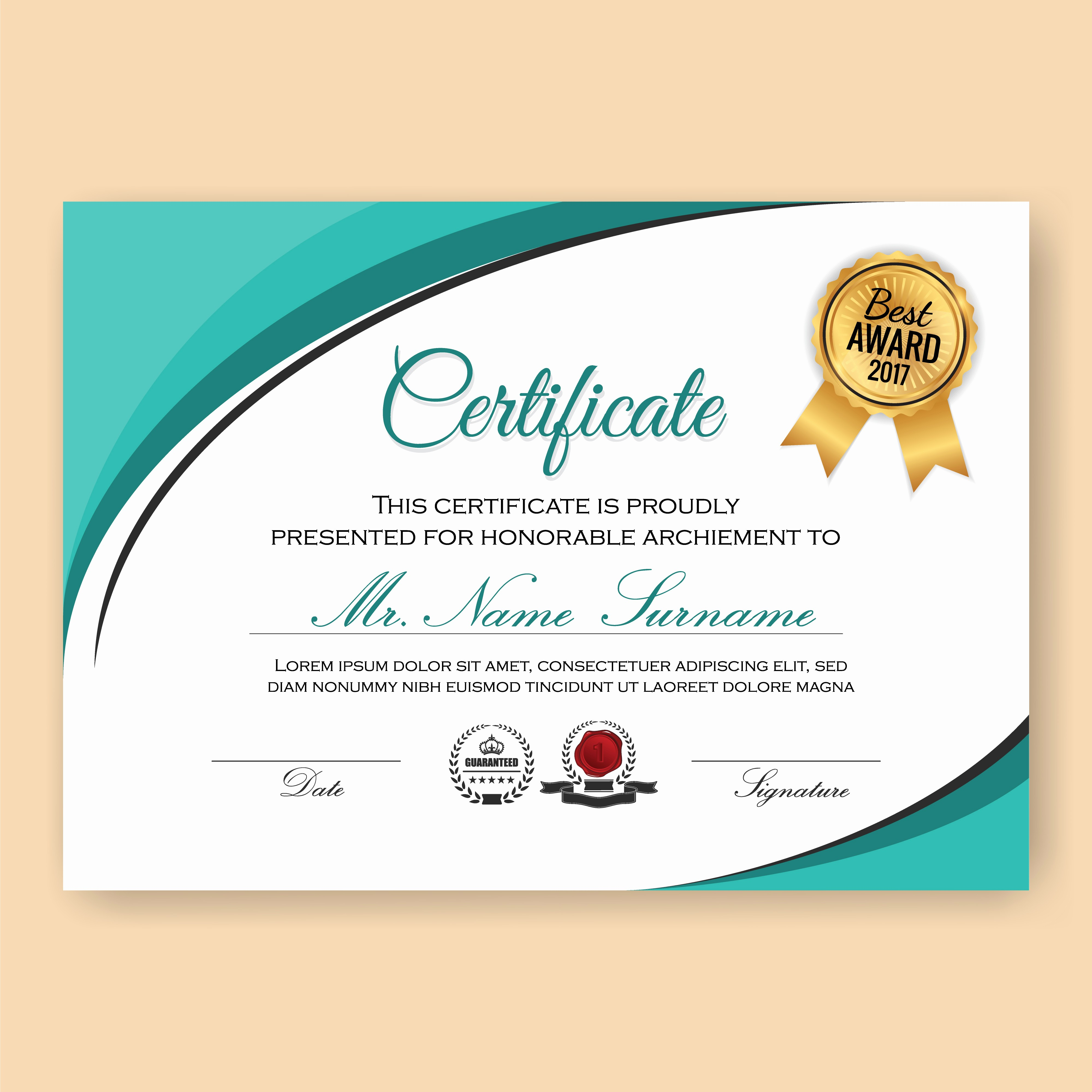 Certificate Background Design Free Download Luxury Modern Verified Certificate Background Template with