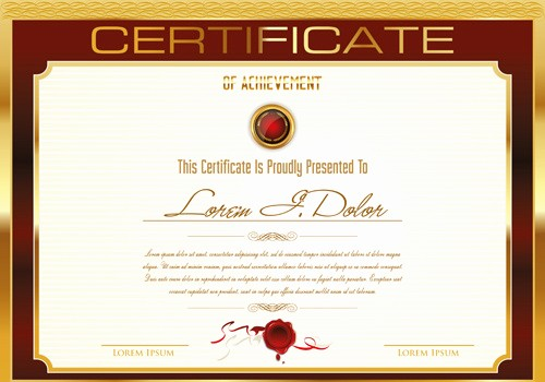 Certificate Background Design Free Download New Certificate Template Adobe Illustrator Free Vector