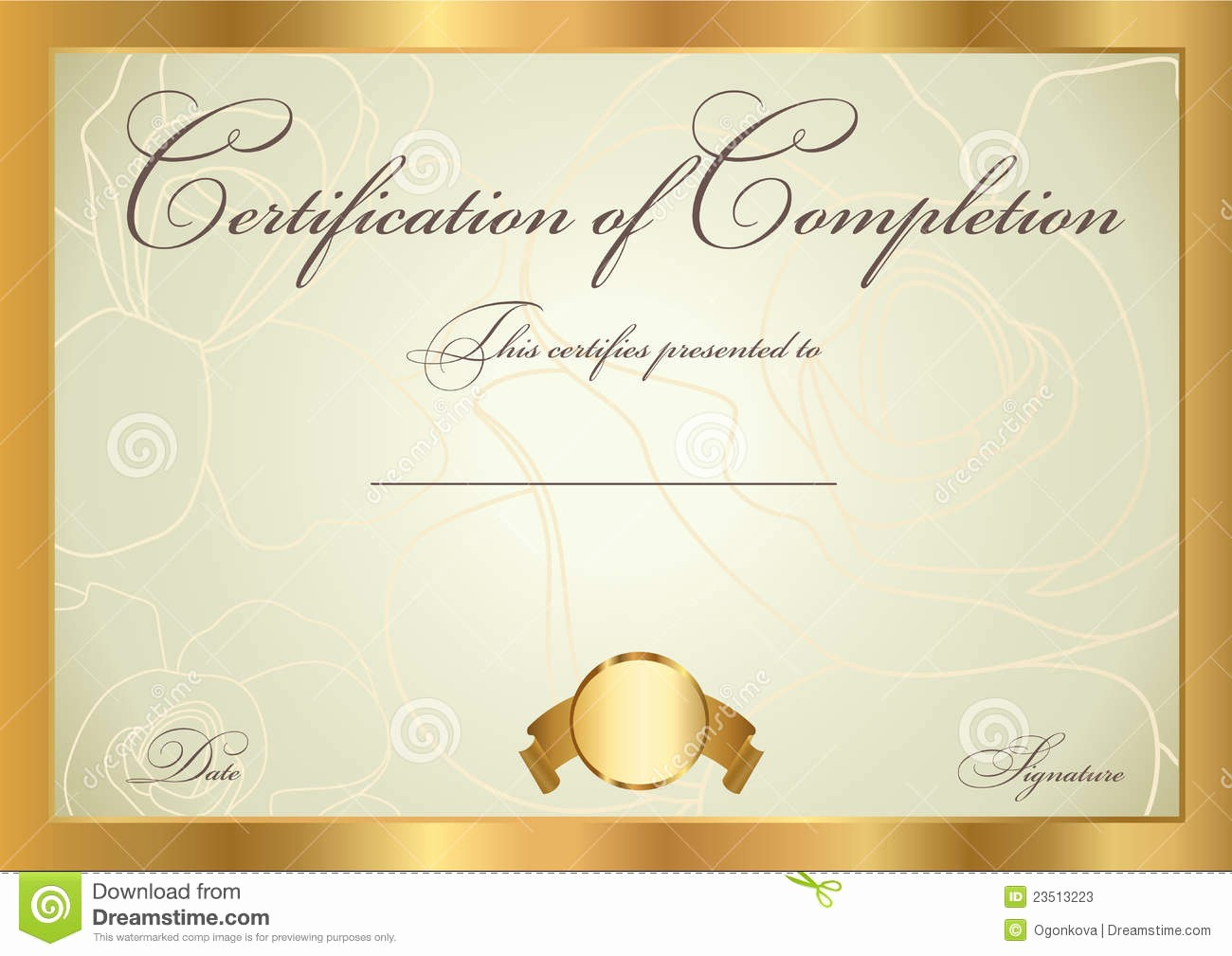 Certificate Background Design Free Download Unique Gold Award Certificate Template Templates Collections