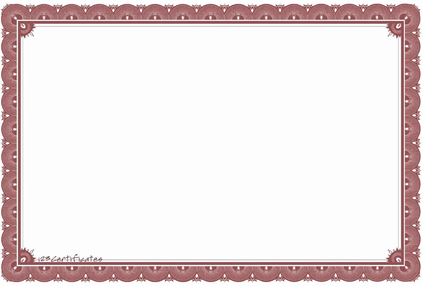 Certificate Border Design Free Download Awesome Gambar Bingkai Untuk Sertifikat atau Ijazah