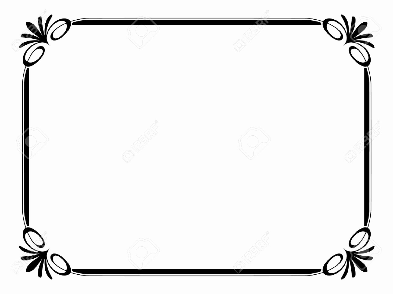 Certificate Border Design Free Download Beautiful Certificate Borders and Frames Clipart