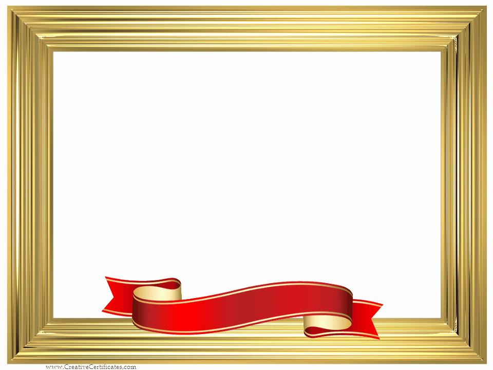 Certificate Border Design Free Download Elegant Picture Frame Border