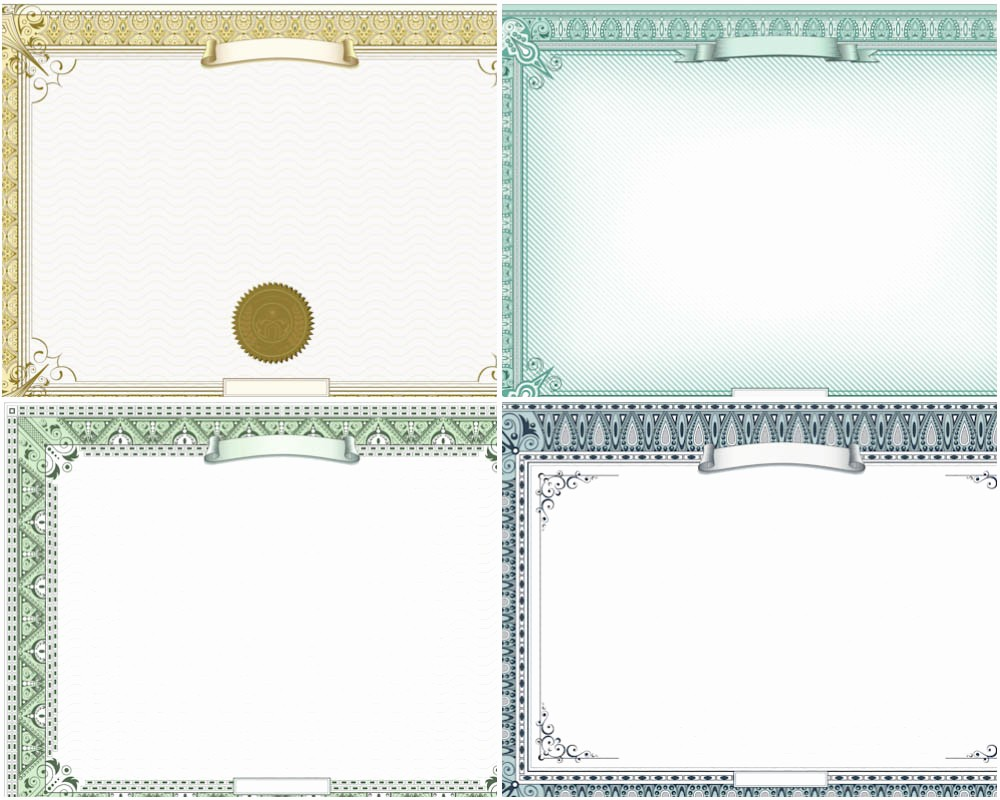 Certificate Border Design Free Download Inspirational 8 Best Of Certificate Border Templates Gold