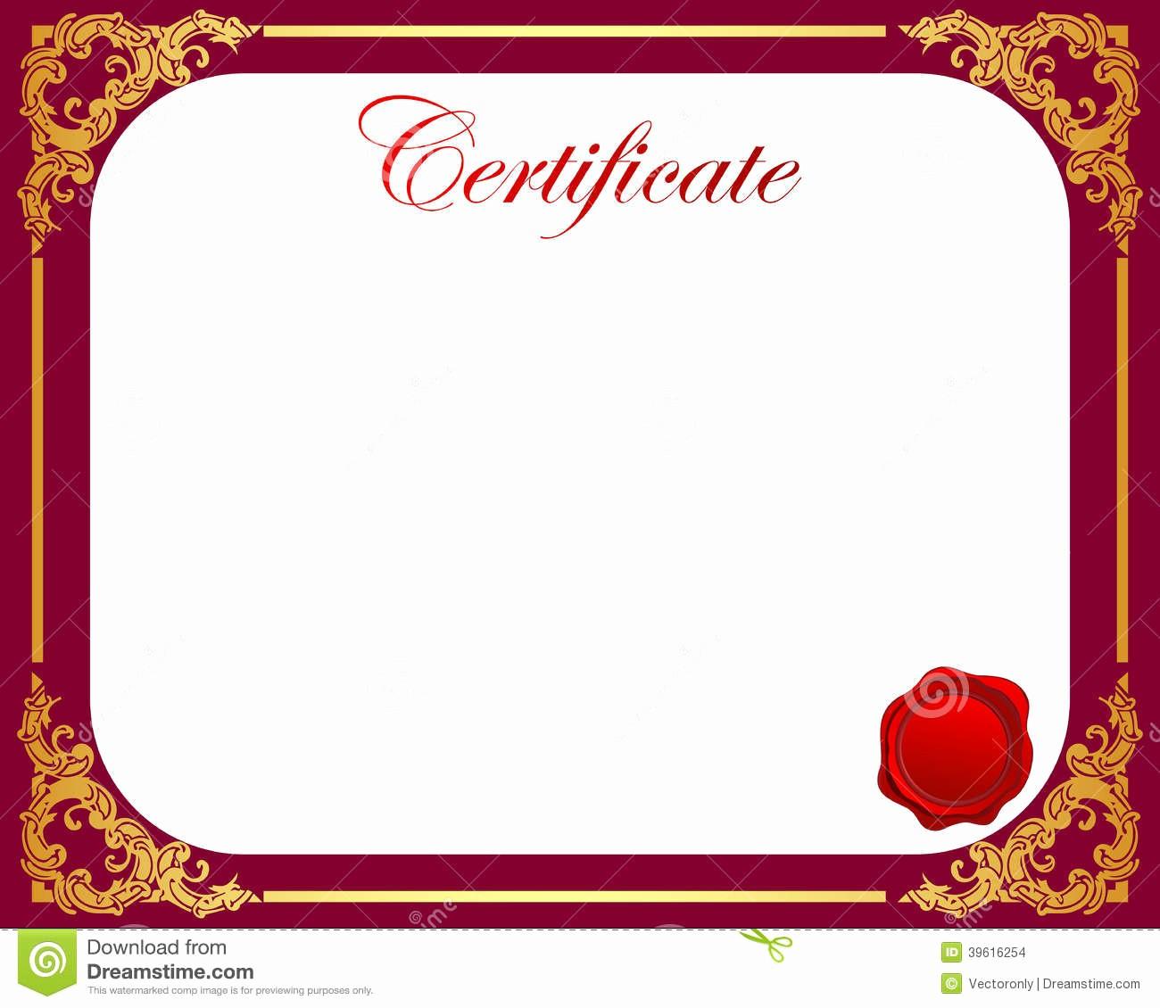 Certificate Border Design Free Download Inspirational Certificaat Vector Illustratie Afbeelding Bestaande Uit