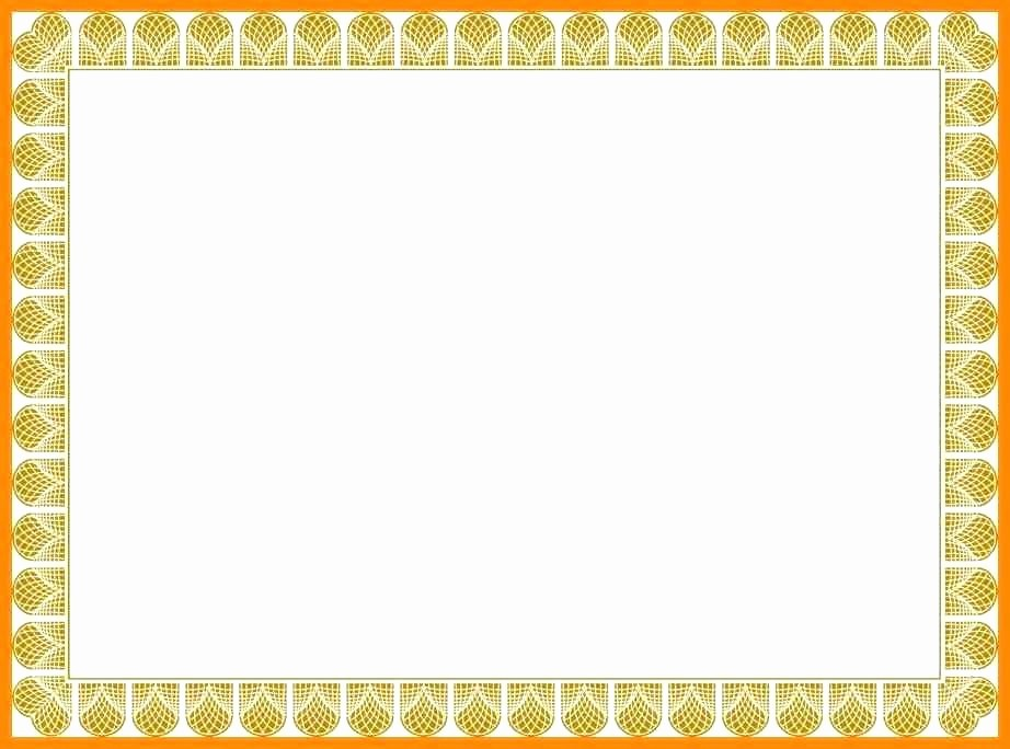 Certificate Border Design Free Download Inspirational Certificate Frames and Borders Frame Template Award – Ustam