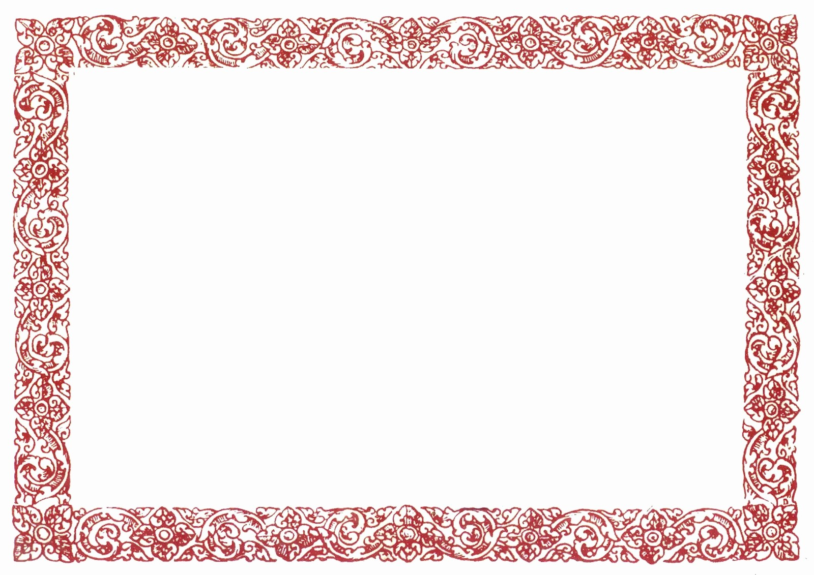 Certificate Border Design Free Download Lovely Red Border Certificate Templates