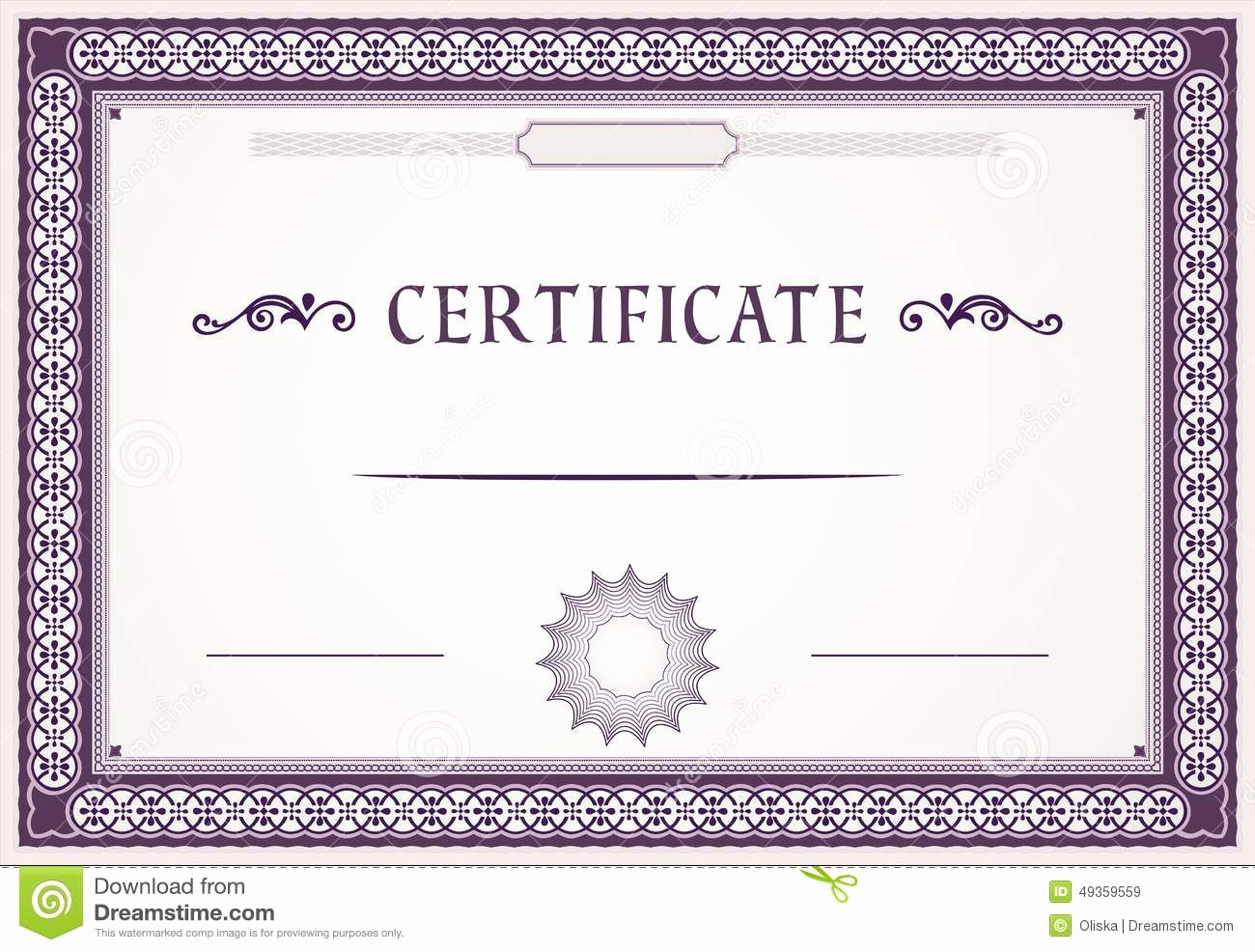 Certificate Border Design Free Download New Certificate Design Stock Vector Image