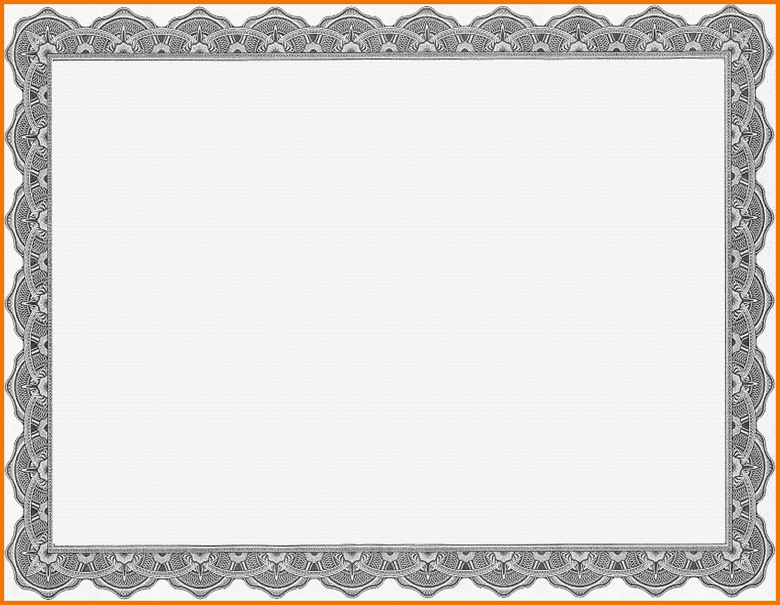 Certificate Border Template for Word Awesome Certificate Border Template Microsoft