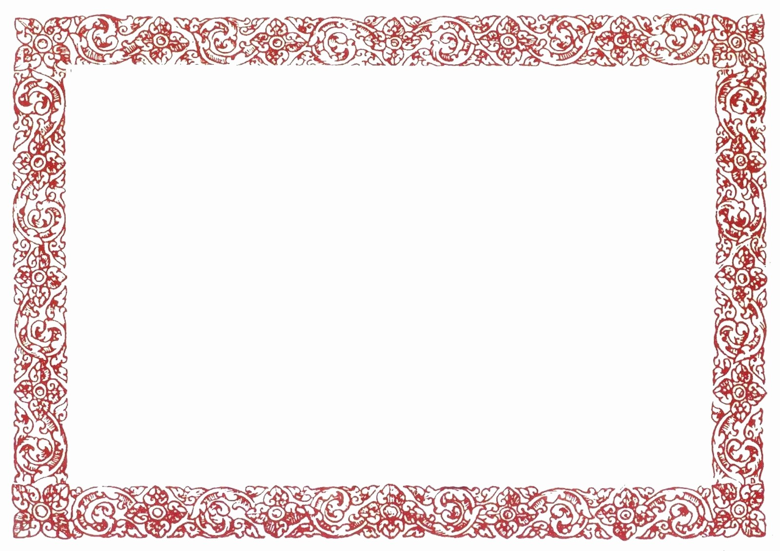 Certificate Border Template for Word Beautiful Template Printable Border Template