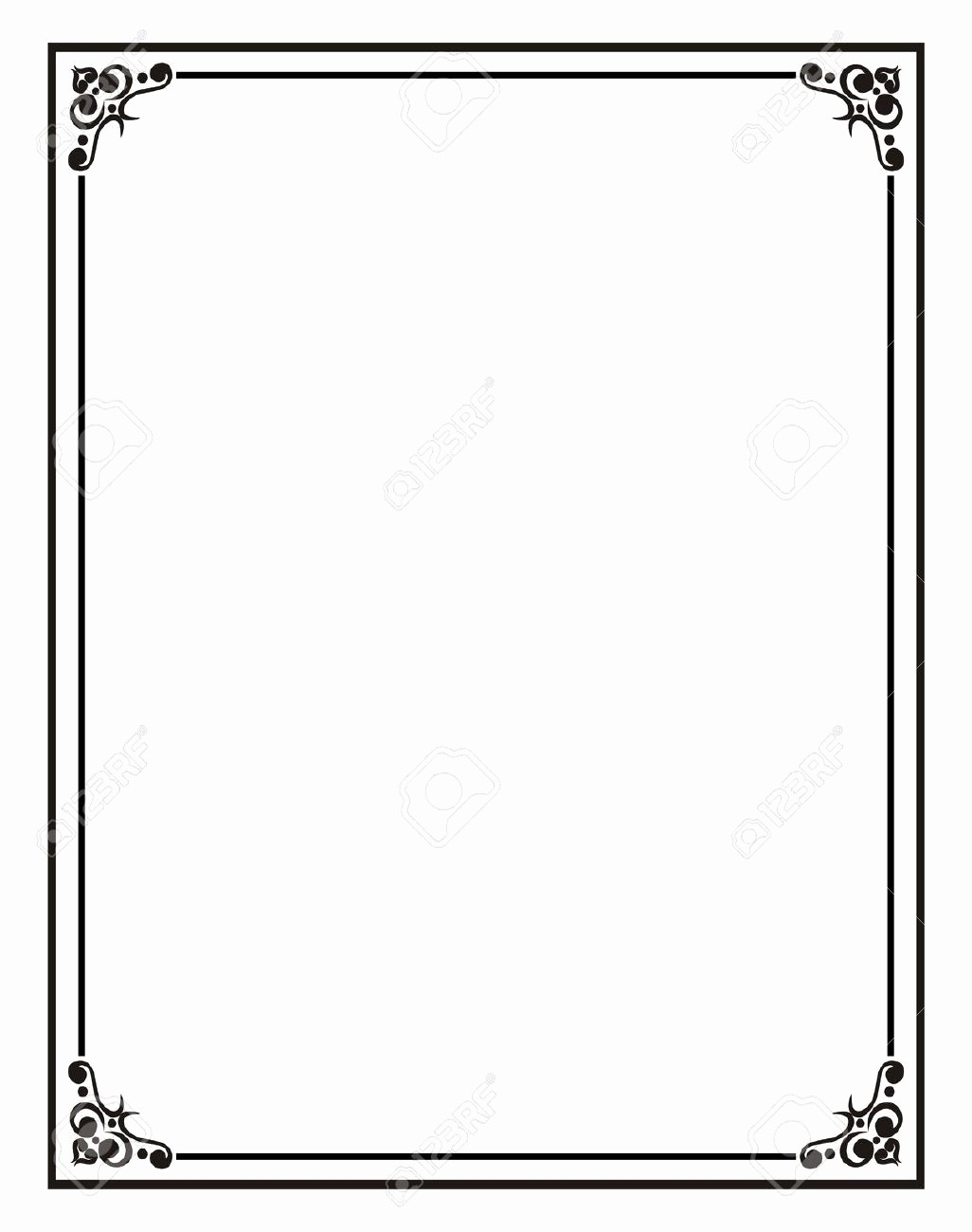 Certificate Border Template for Word Lovely Home Fice Certificate Border Stock S