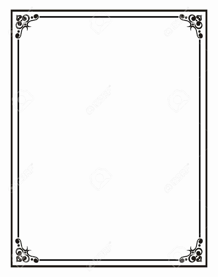 Certificate Border Template for Word New Home Fice Certificate Border Stock S