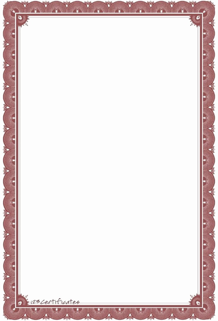 Certificate Border Template for Word Unique Background Templates formal Certificate Borders to