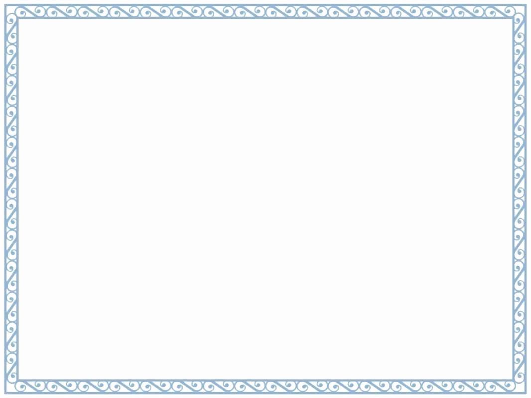 Certificate Border Template for Word Unique Certificate Border Design Word