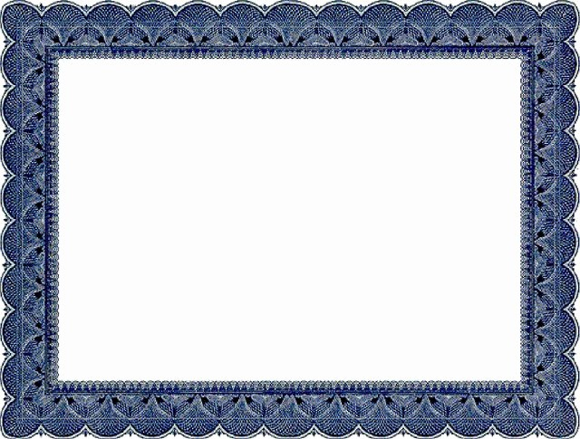 Certificate Border Template for Word Unique Certificate Border