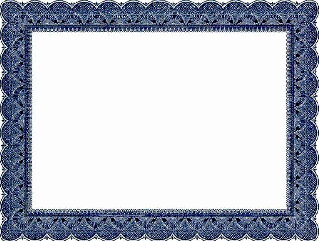 Certificate Border Template for Word Unique Certificate Border