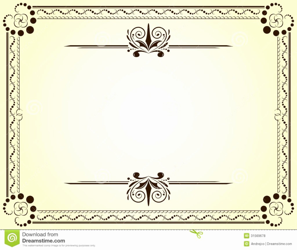 Certificate Design Templates Free Download Awesome Blank Vector Printable Blank Certificates