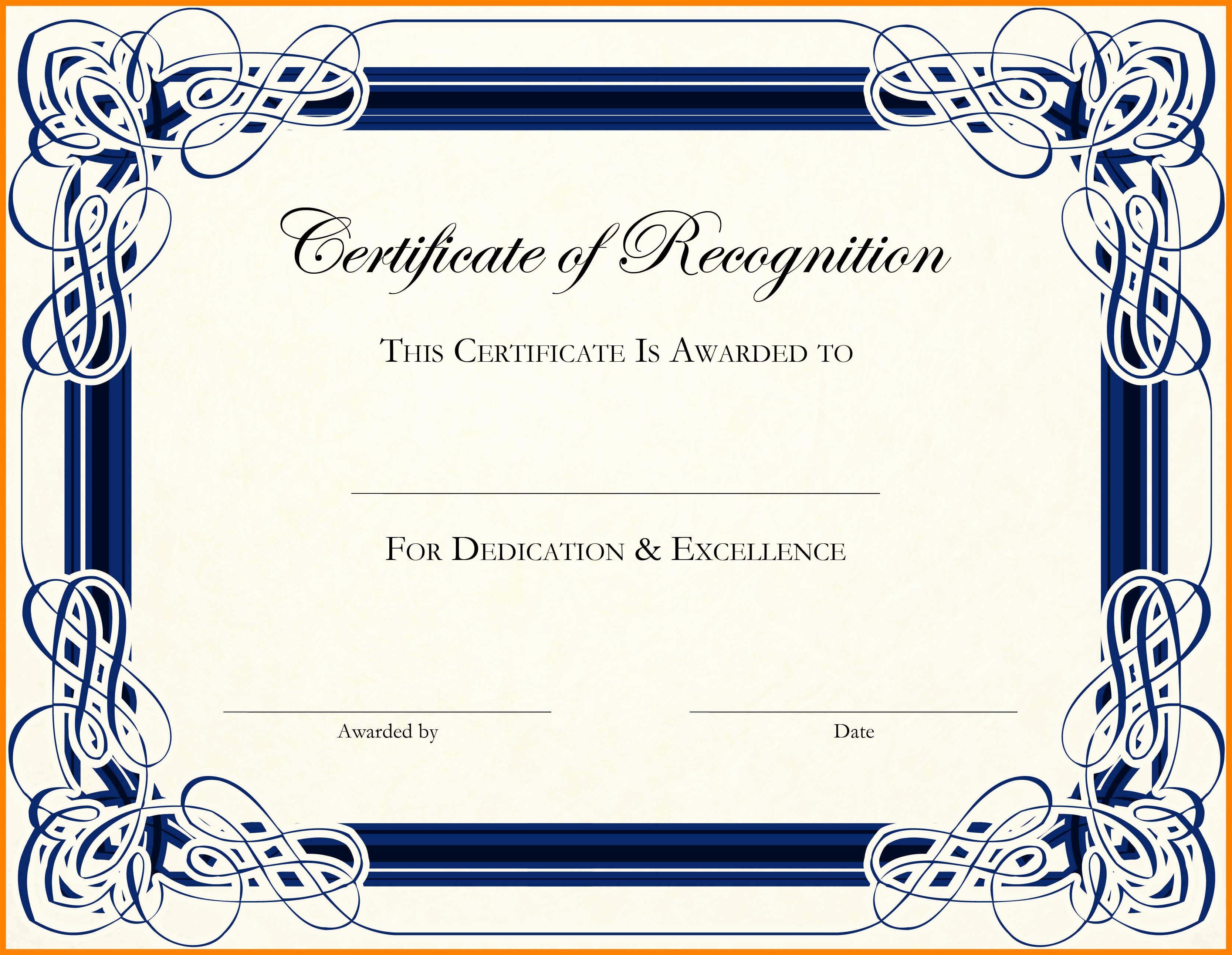 Certificate Design Templates Free Download Beautiful 15 Certificate Templates Word Free