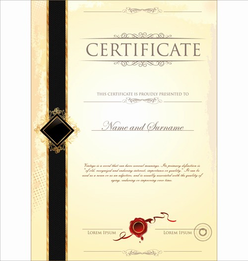 Certificate Design Templates Free Download Elegant Certificate Border Template Free Vector 18 667