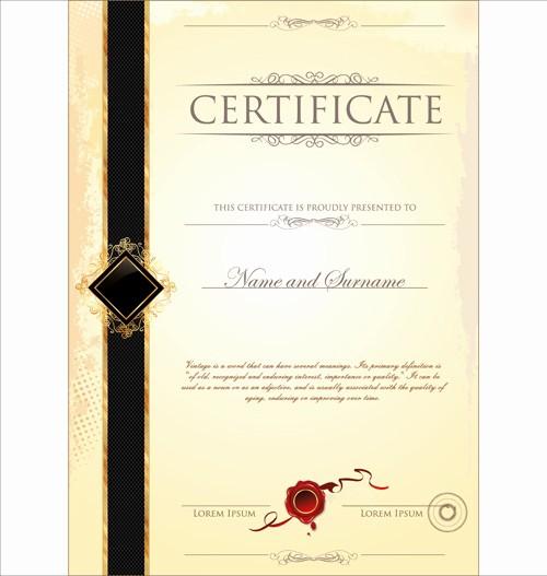 Certificate Design Templates Free Download Elegant Certificate Border Template Free Vector 18 667