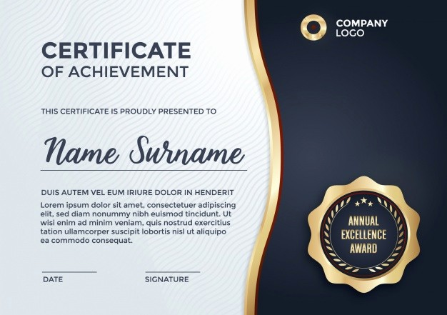 Certificate Design Templates Free Download Luxury Certificate Template Design Vector