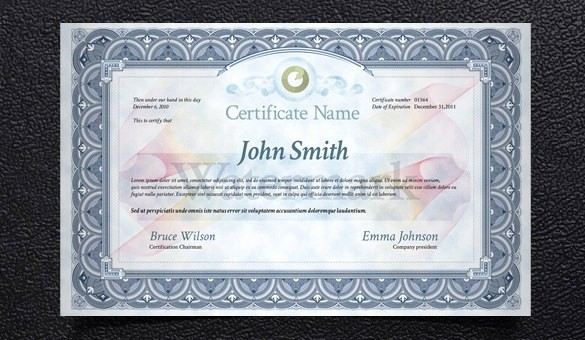 Certificate Design Templates Free Download New 83 Psd Certificate Templates