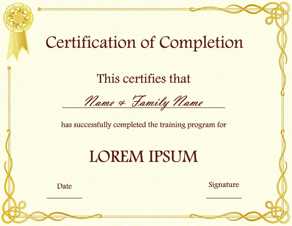 Certificate Design Templates Free Download New Blank Award Certificate Templates