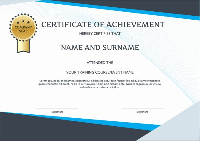 Certificate Design Templates Free Download New Training Certificate Template Free Download Beautiful