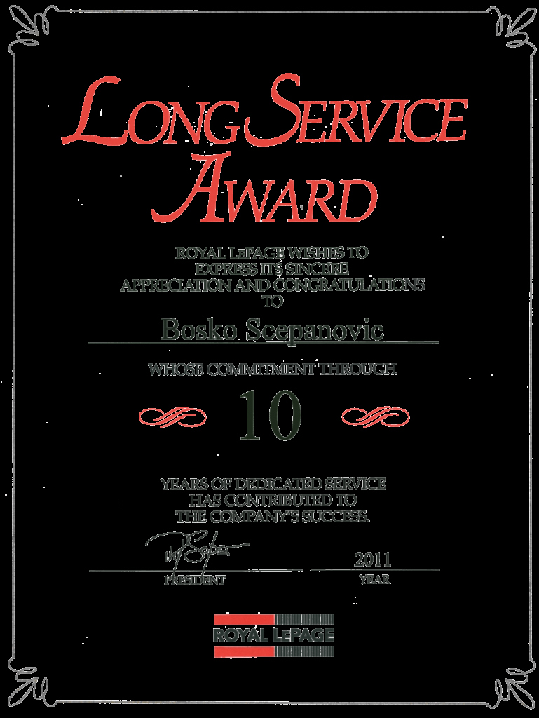 Certificate for Years Of Service Elegant Service Award Template Resume Examples Years Service