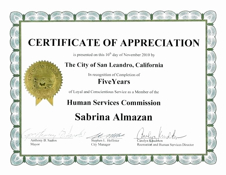 Certificate for Years Of Service Fresh Years Service Award Certificate Template Wording