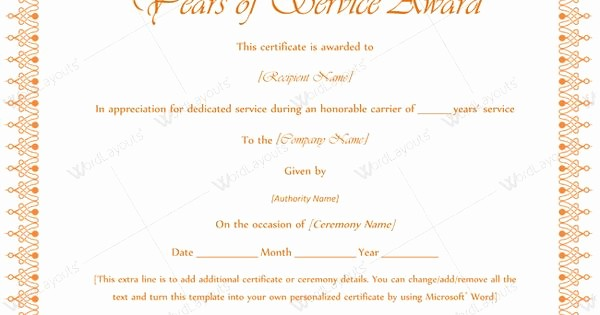 Certificate for Years Of Service Lovely Printable Years Service Award Serviceyearaward