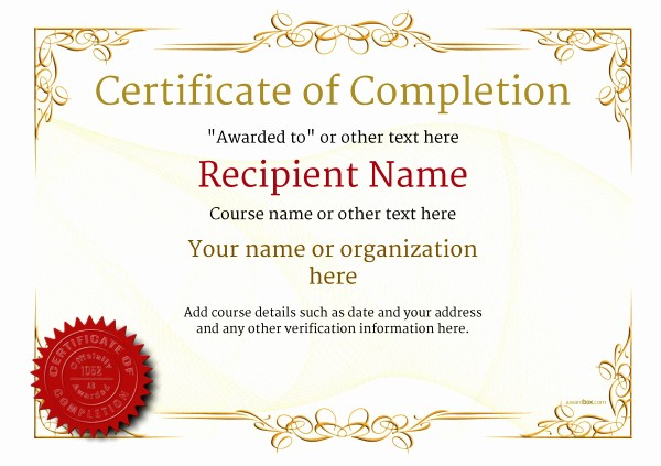 Certificate Of Accomplishment Template Free Beautiful Certificate Of Pletion Free Quality Printable