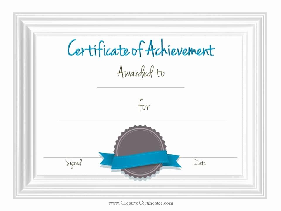 Certificate Of Accomplishment Template Free Beautiful Free Customizable Certificate Of Achievement