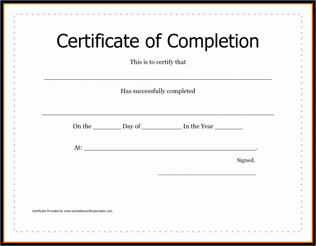 Certificate Of Accomplishment Template Free Best Of Free Printable Certificates Achievement Sample Receipt
