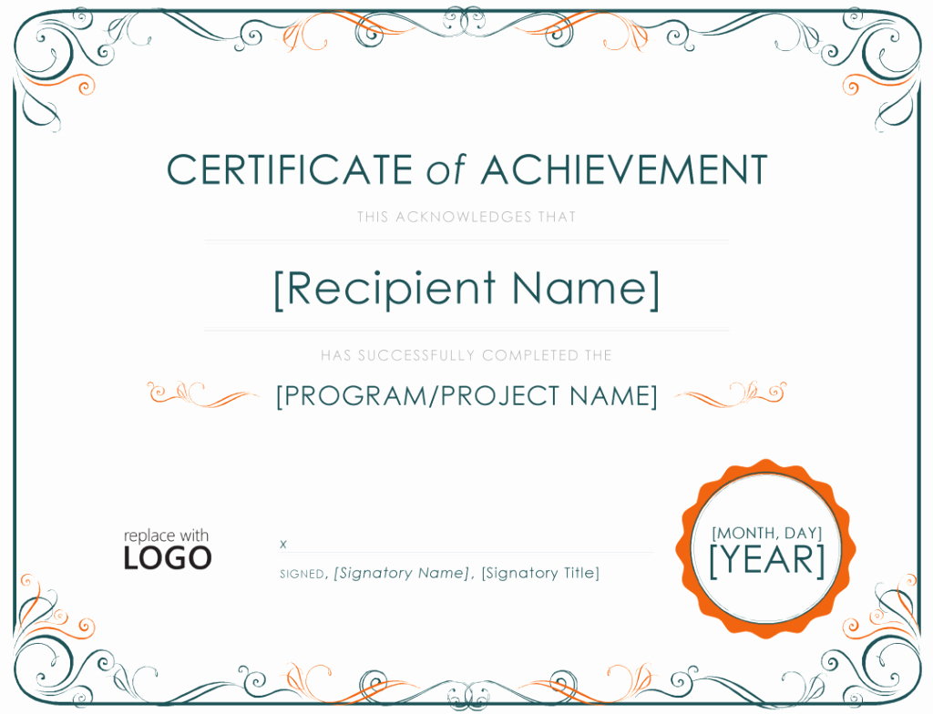 Certificate Of Accomplishment Template Free Fresh Achievement Certificate Template