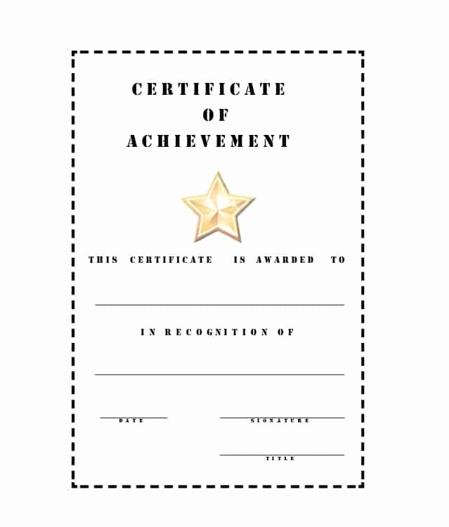 Certificate Of Accomplishment Template Free Inspirational 40 Great Certificate Of Achievement Templates Free