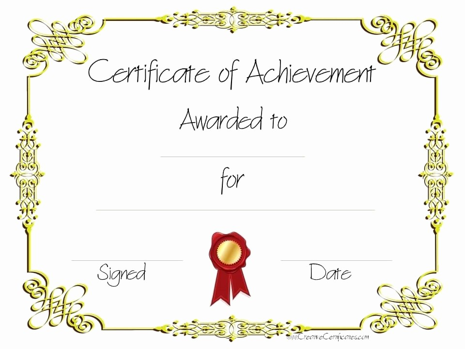 Certificate Of Accomplishment Template Free Inspirational Copy 8 Of Certificate Of Achievement 960×720