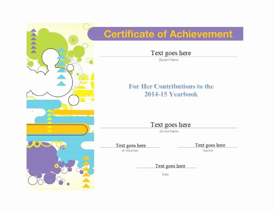 Certificate Of Accomplishment Template Free New 40 Great Certificate Of Achievement Templates Free