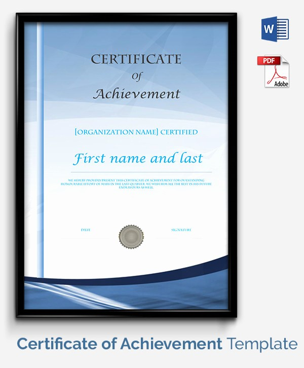 Certificate Of Accomplishment Template Free New Certificate Template 50 Free Printable Word Excel Pdf