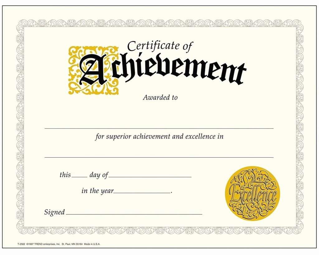 Certificate Of Accomplishment Template Free Unique Printable Achievement Certificates