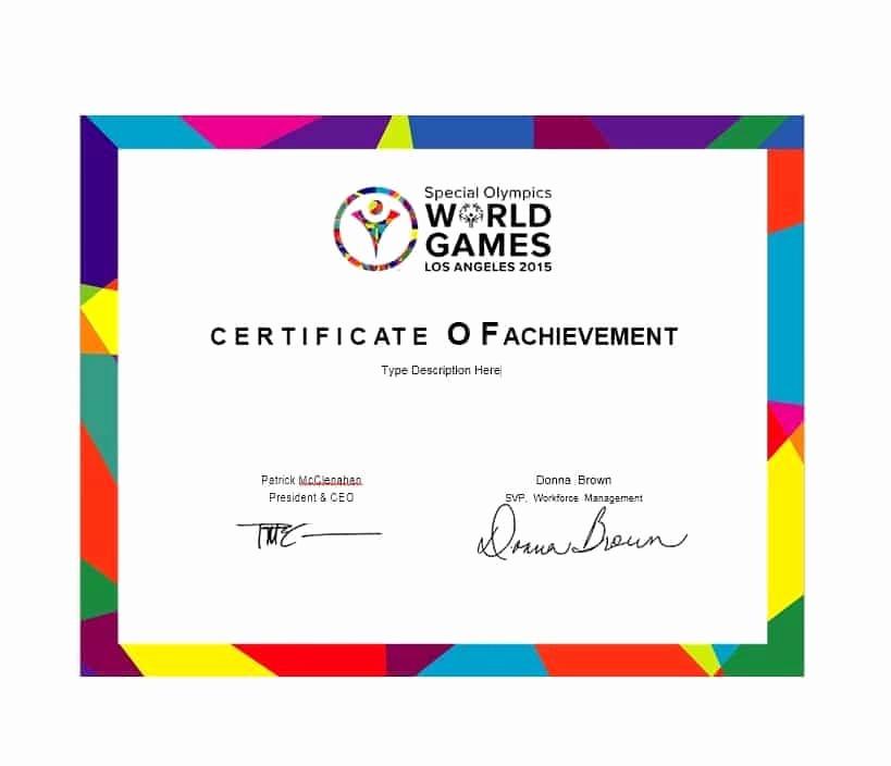 Certificate Of Achievement Free Template Best Of 40 Great Certificate Of Achievement Templates Free