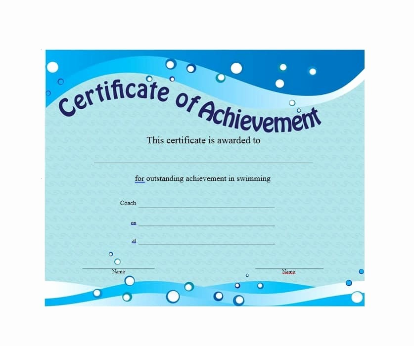 Certificate Of Achievement Free Template Best Of 40 Great Certificate Of Achievement Templates Free