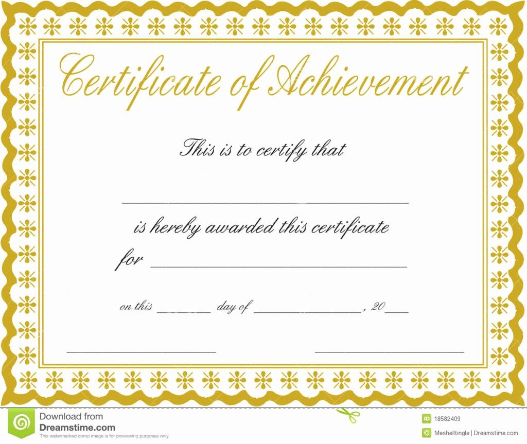 Certificate Of Achievement Free Template Lovely 26 Achievement Certificates for 2018