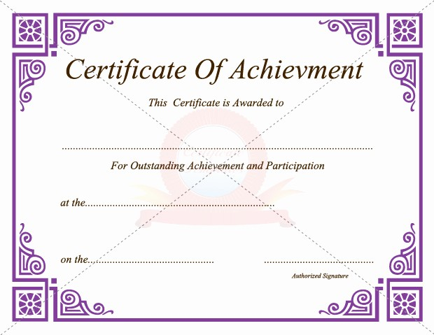 Certificate Of Achievement Free Template Lovely 30 Acievement Certificate Templates